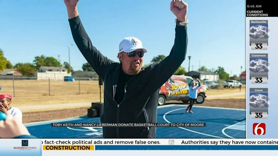 Toby Keith Donates Basketball Court To City Of Moore