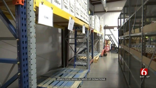 Jenks Community Food Bank Needs Help To Fill Their Shelves
