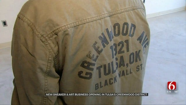 New Tulsa Greenwood District Business Focuses On Sneakers, Art