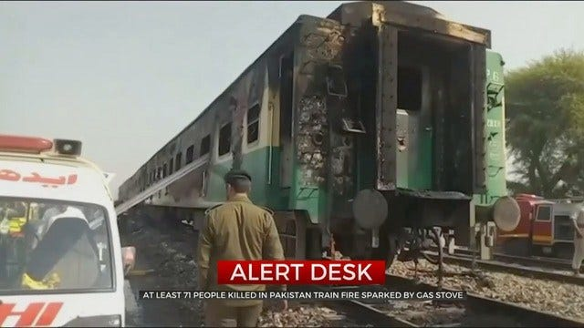 At Least 71 Killed After Train Catches Fire In Pakistan