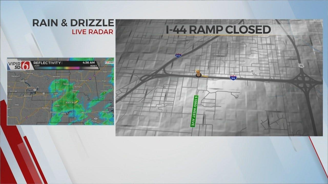 I-44 Ramp Closed Due To Waterline Break