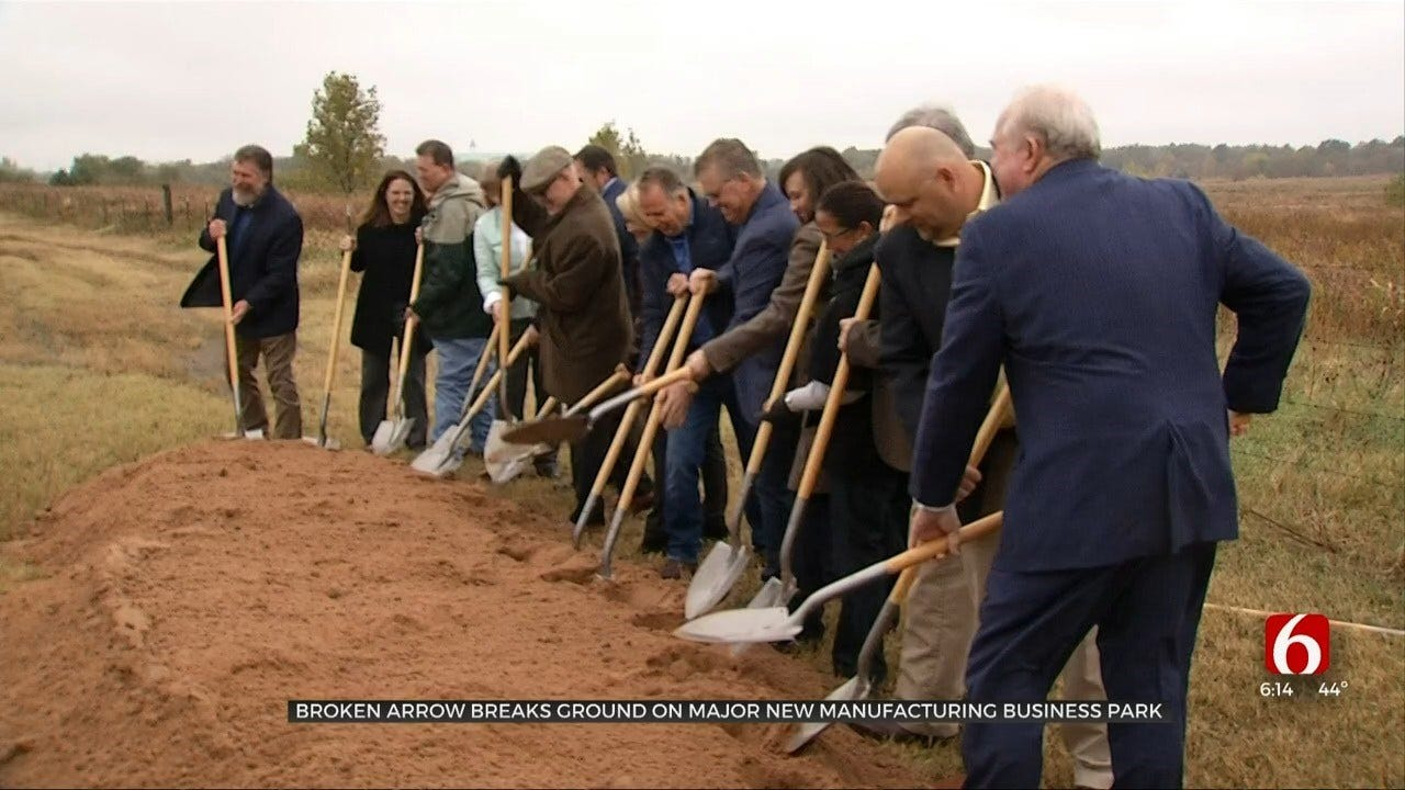 Broken Arrow Breaks Ground On Manufacturing Business Park