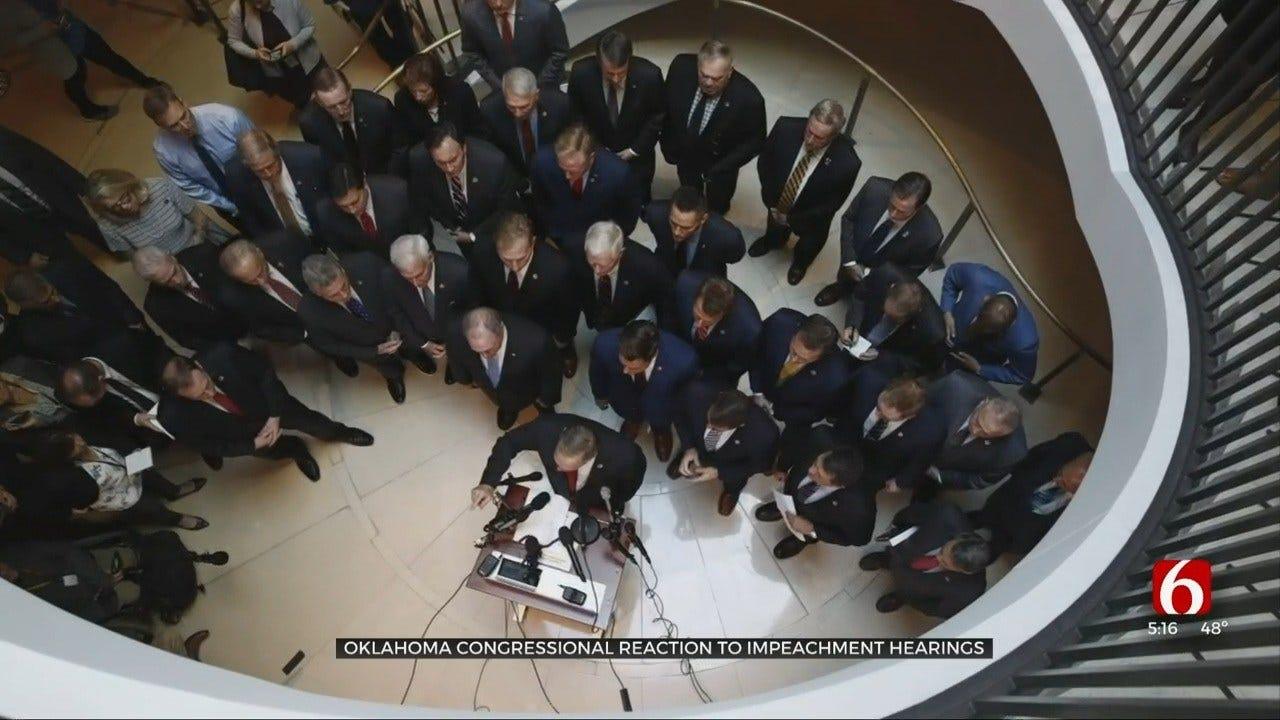 Oklahoma Congressman React To Impeachment Inquiry Hearings