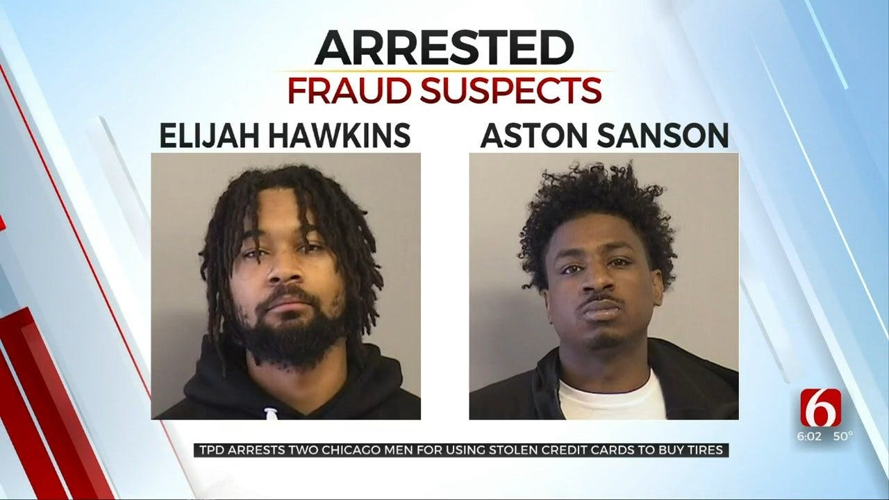 Chicago Men Arrested In Tulsa Plot To Buy Tires With Stolen Credit Card