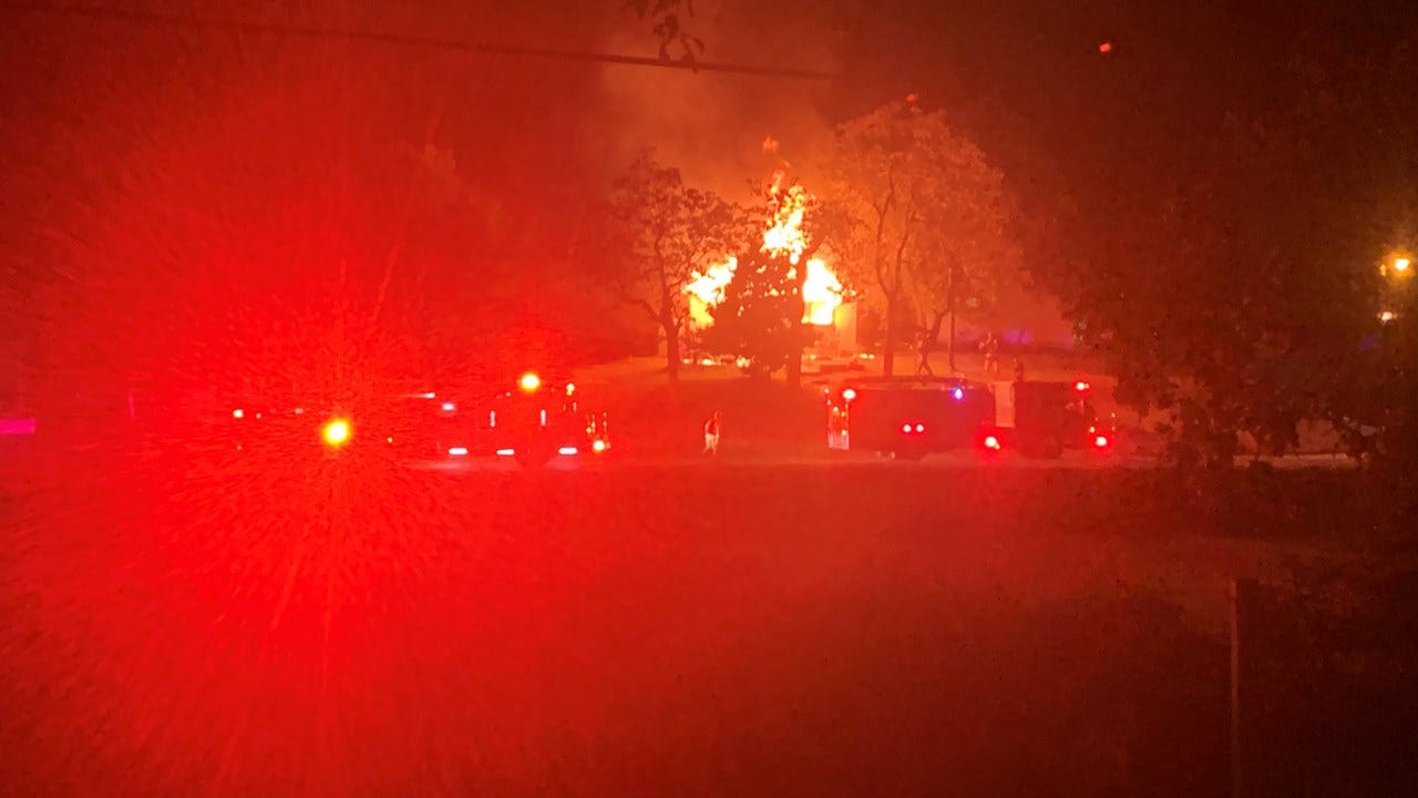 Sand Springs Fire Department Investigates House Fire