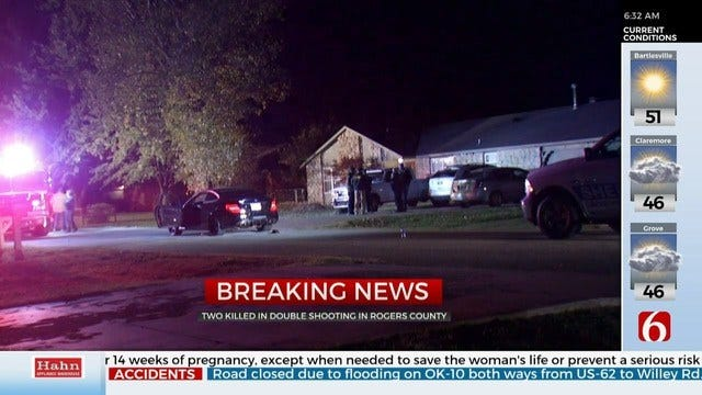 UPDATE: 2 In Custody After Deadly Rogers County Shooting