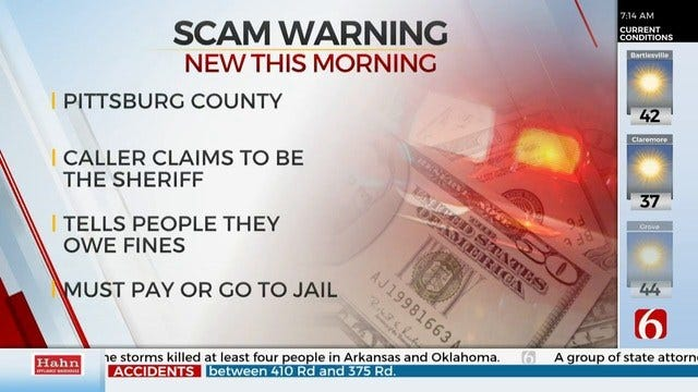 Pittsburg County Sheriff Issues Phone Scam Warning