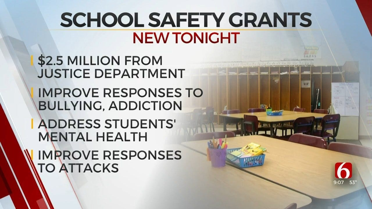 U.S. Department Of Justice Funds Safety For Oklahoma Schools