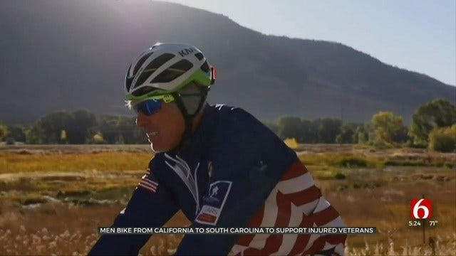 Men Biking Across Country To Support Injured Veterans Make Tulsa Stop
