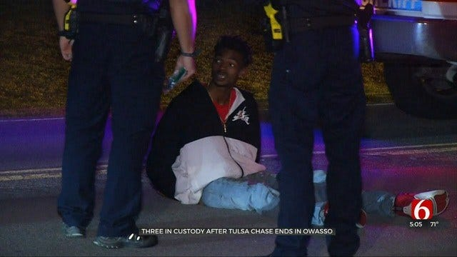 Tulsa Police: 3 Taken Into Custody After Multi-City Chase Ends