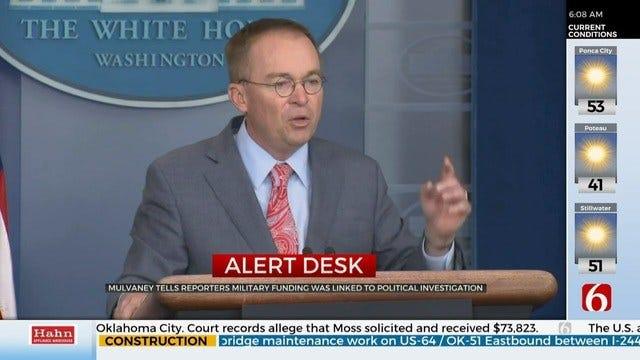 Ukraine Military Funding Withheld For Political Investigation, White House Adviser Says