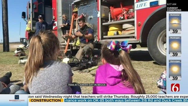 WATCH: Beggs Elementary Holds Career Day