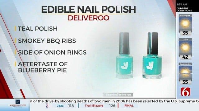 WATCH: Food Scientists Create Edible Nail Polish