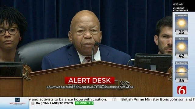 U.S. Congressman Elijah Cummings Has Died