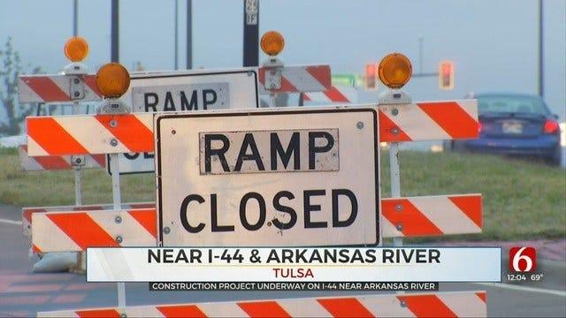 Lanes Narrowed As Construction Starts On I-44 At The Arkansas River