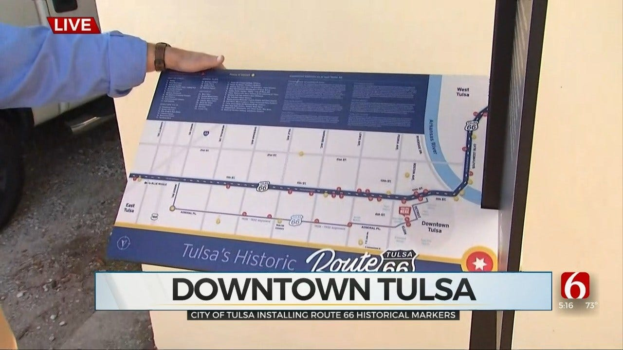 City of Tulsa Installs New Route 66 Markers