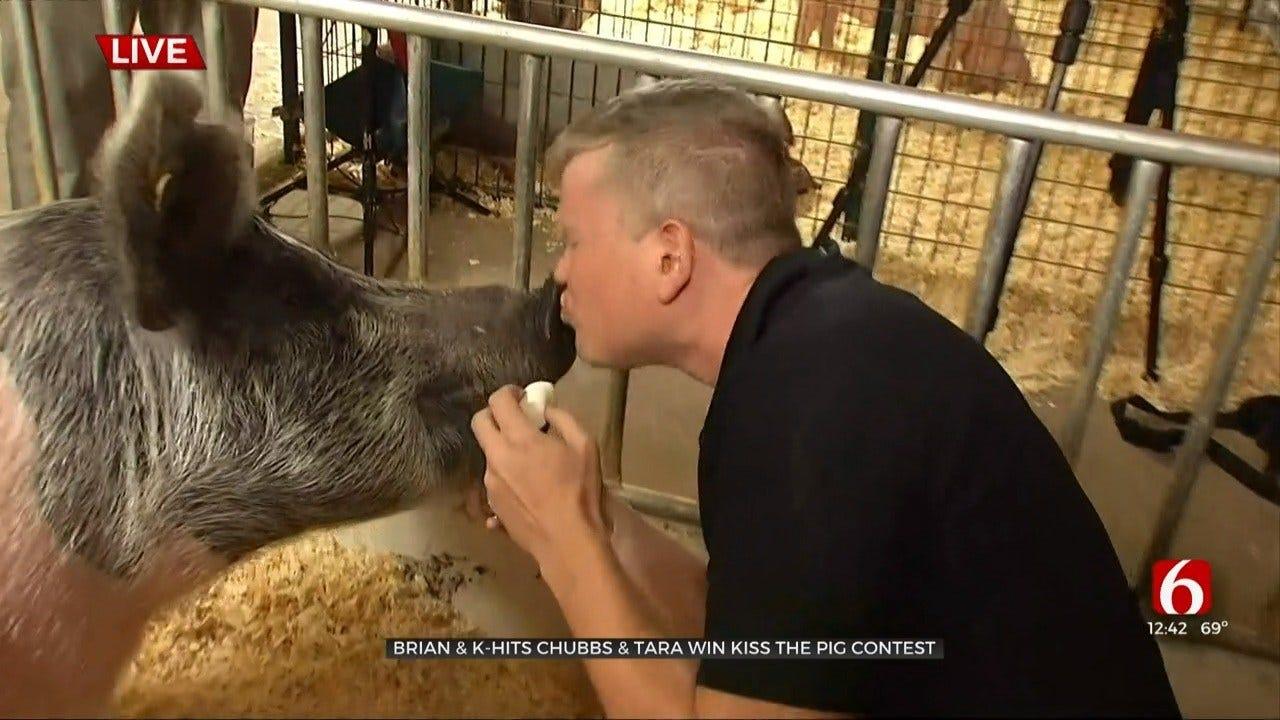 WATCH: Brian Dorman, Chubbs & Tara Pucker Up For Victoria The Pig