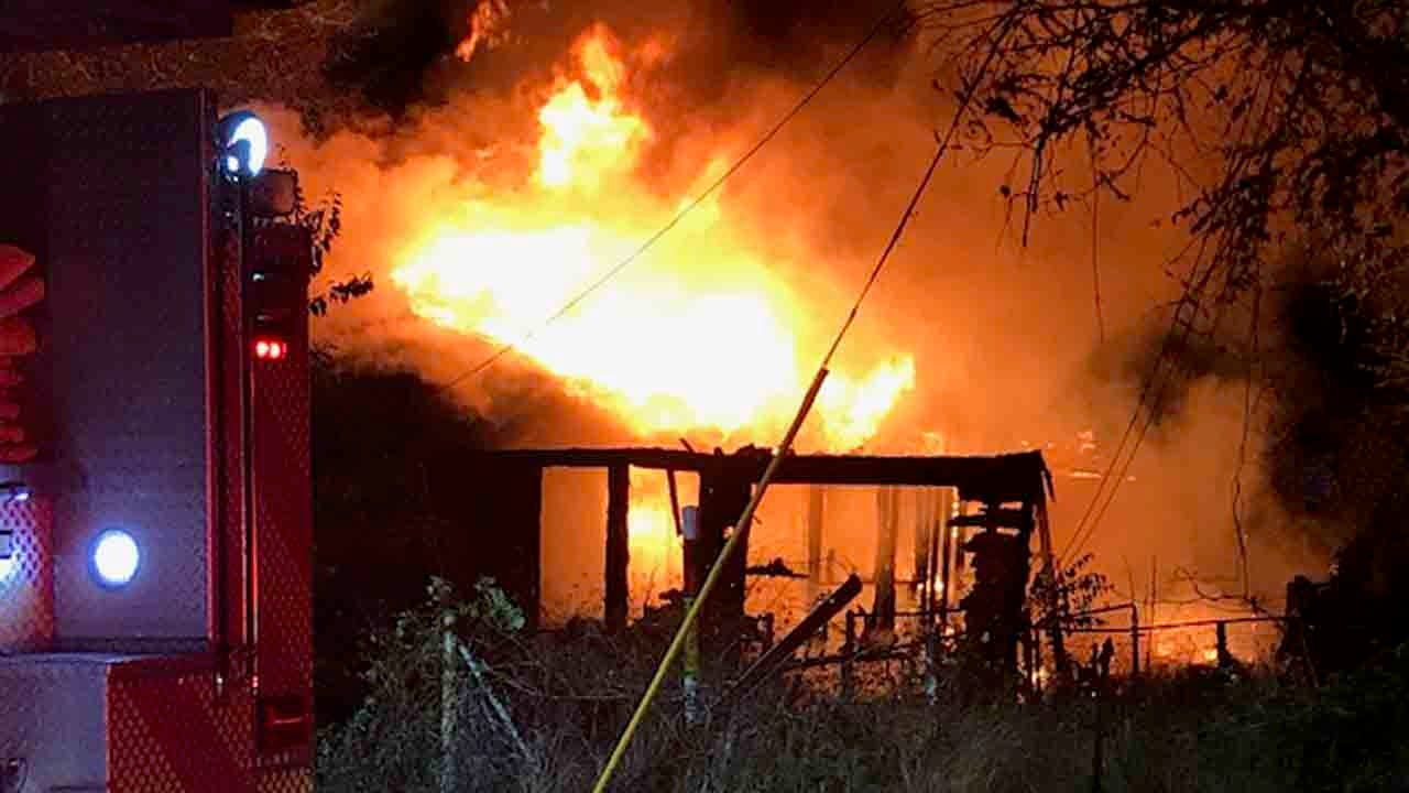 WATCH: Abandoned Tulsa House Catches Fire, Cause Under Investigation