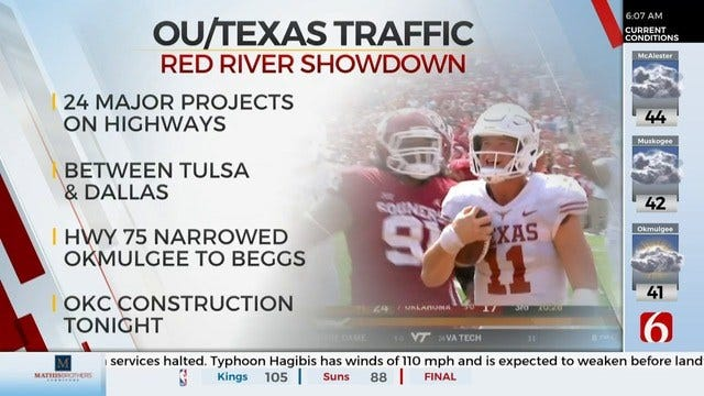 Road Construction To Impact Red River Showdown Traffic