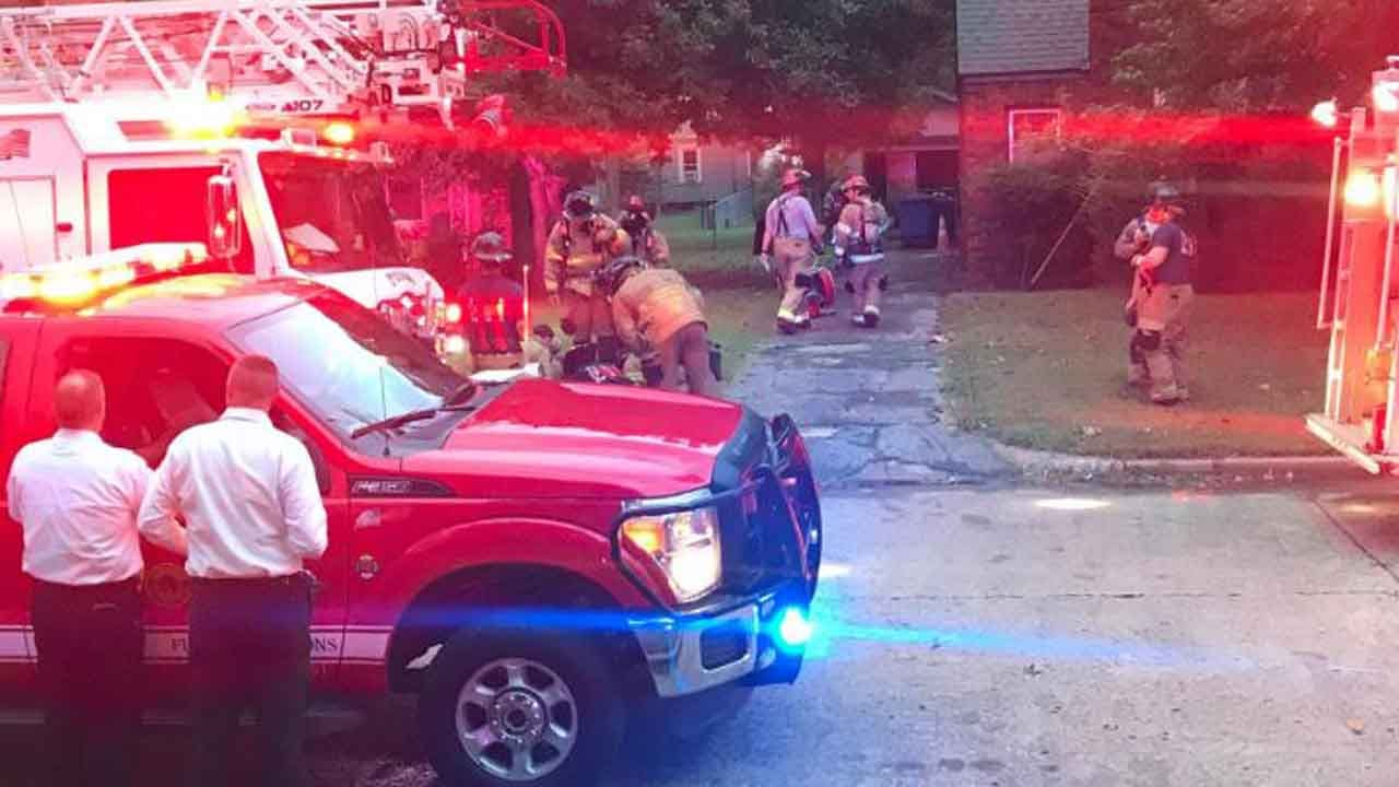 Firefighters Investigate Tulsa House Fire, Possible Gas leak