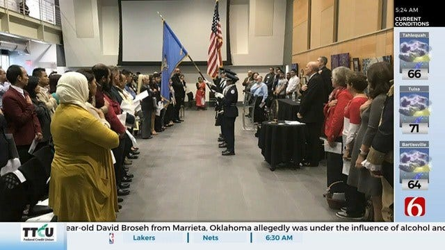 Naturalization Ceremony For New U.S. Citizens Held At TCC