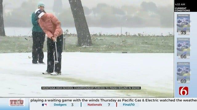 Golfers Finish Montana Tournament In Wintery Weather