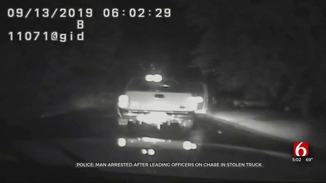 Tulsa Police Video Shows Arrest Of Man They Say Was Driving Stolen Truck
