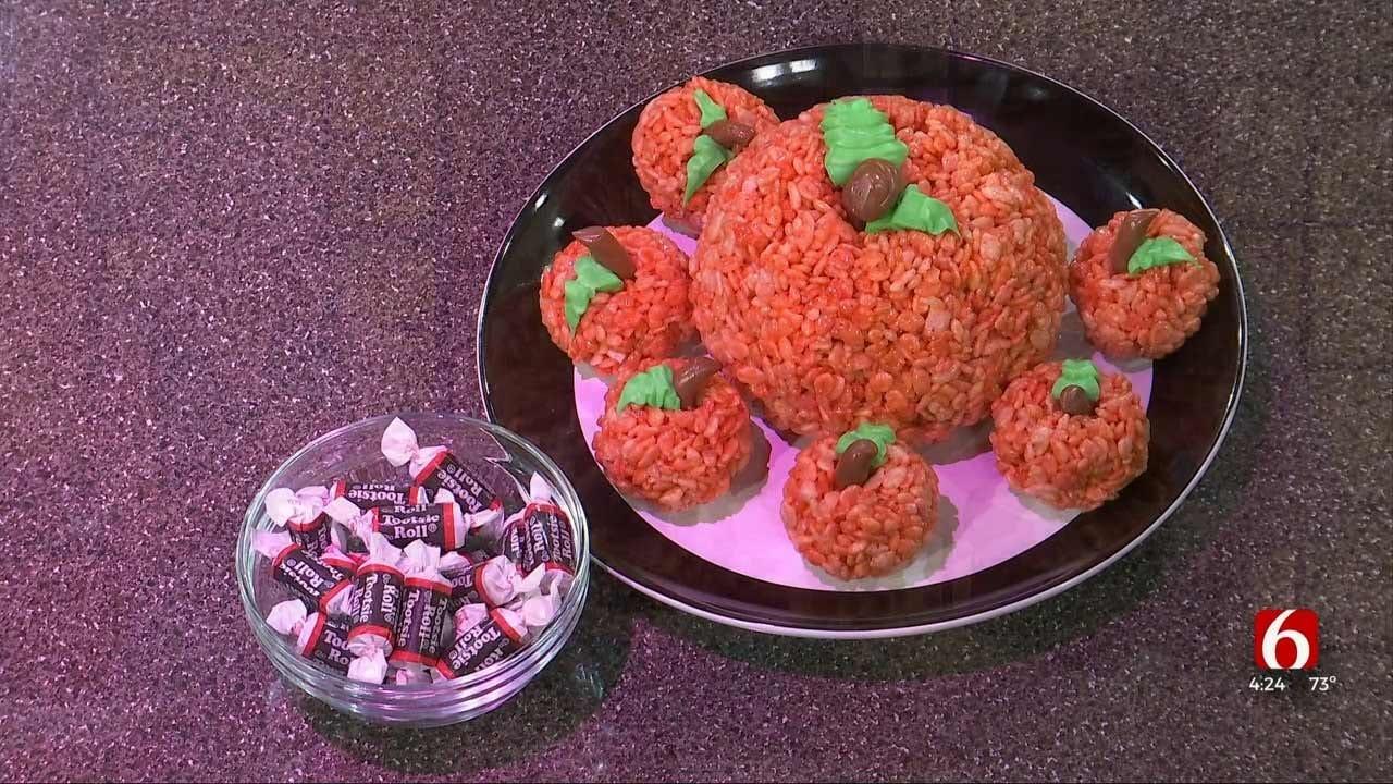 Amber & Brooks In The Kitchen: Pumpkin Spice Rice Krispies Treats