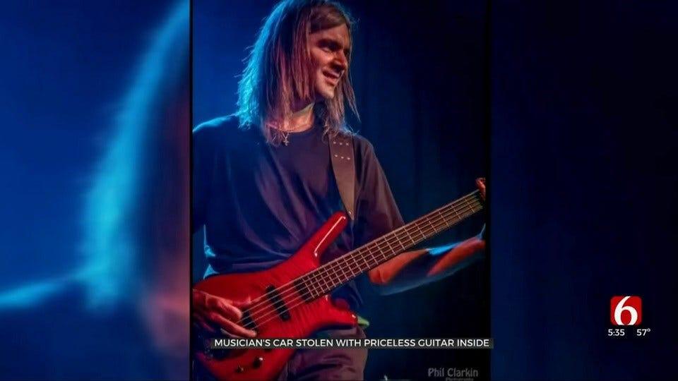 Tulsa Musician's Car Stolen With Priceless Guitar Inside