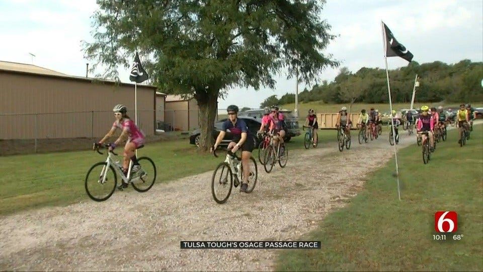 Cyclists Come Together For Tulsa Tough's Osage Passage Race