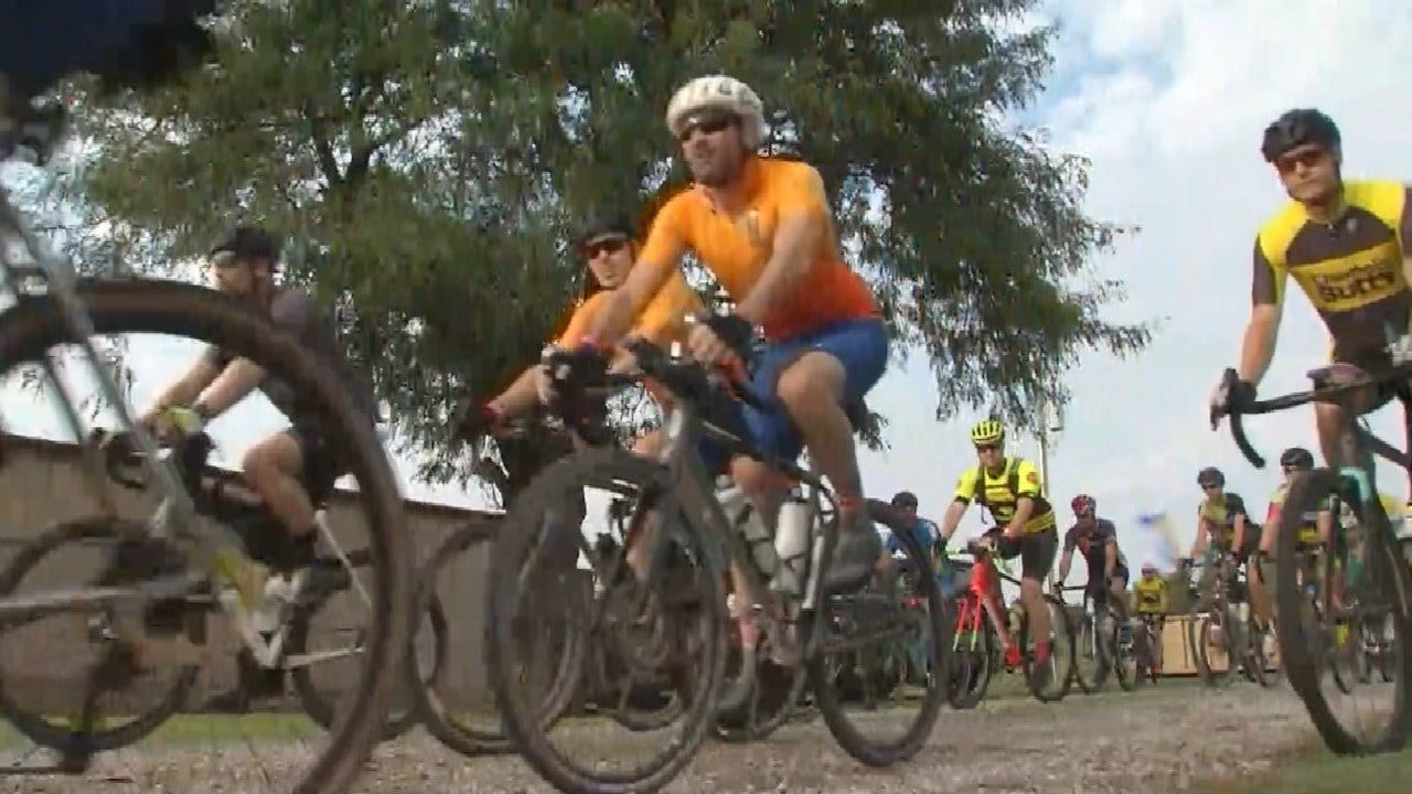 Around 300 Take Part In 1st Osage Passage Bike Race Near Skiatook