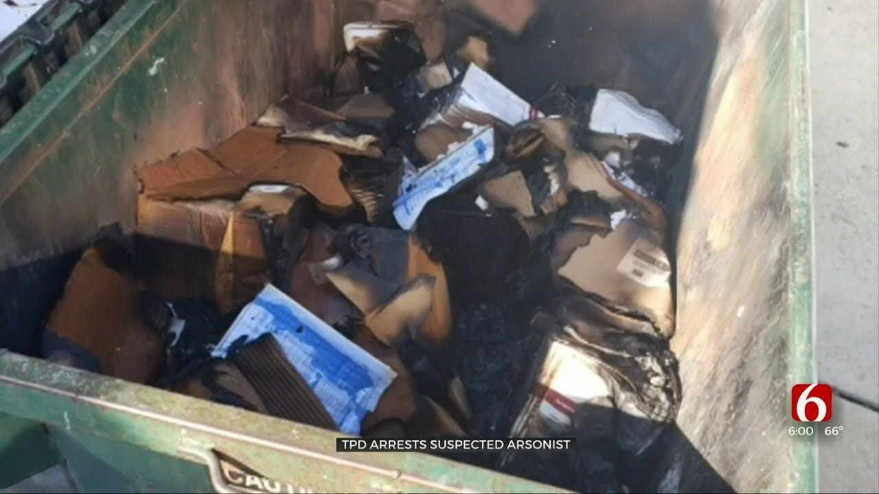 TPD Arrests Suspected Arsonist Downtown After Worker Discovers Dumpster On Fire