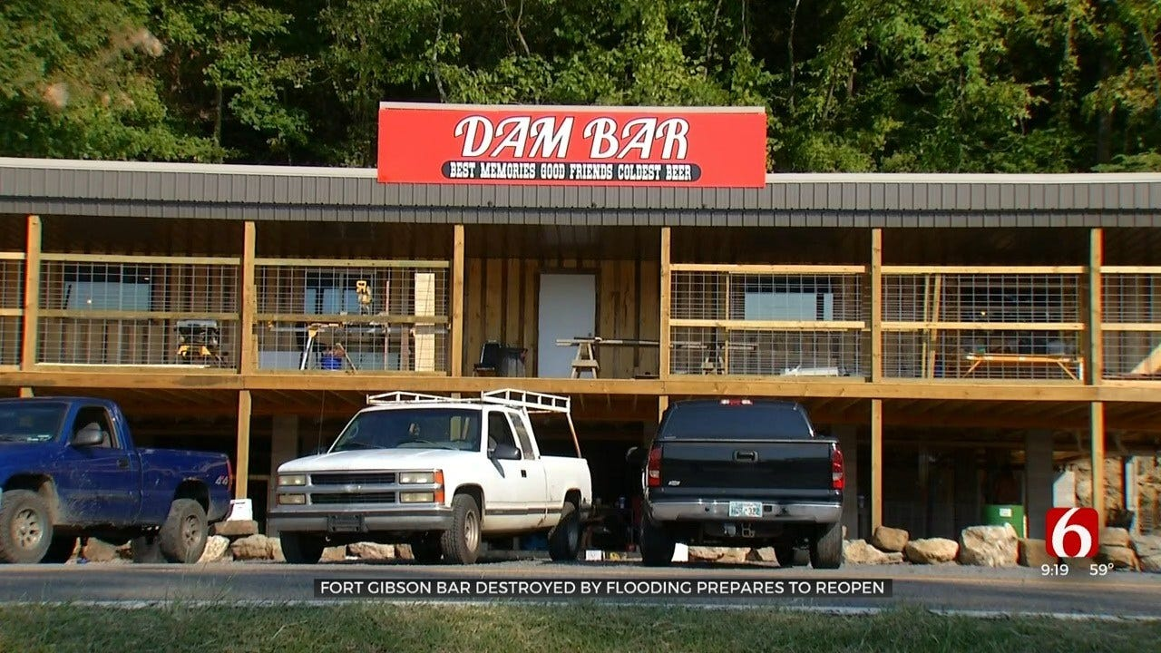 Fort Gibson Community Restores Beloved Bar After May Flooding