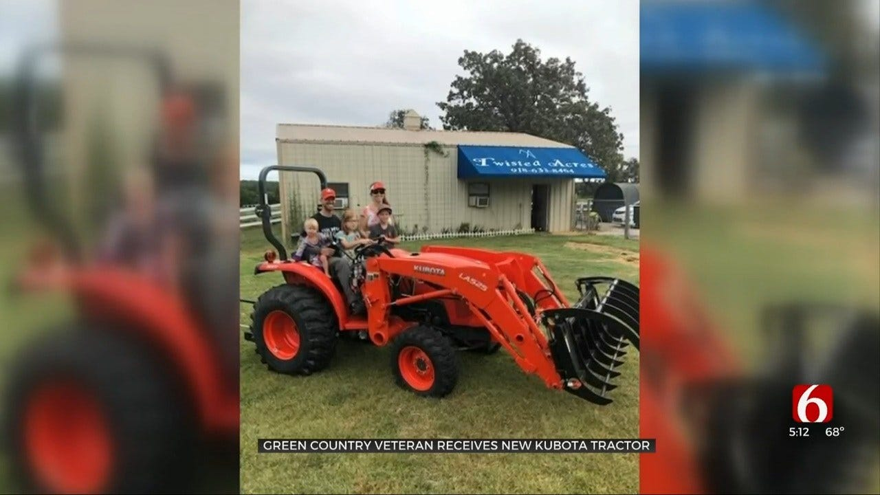 Oklahoma Veteran Awarded New Kubota Tractor