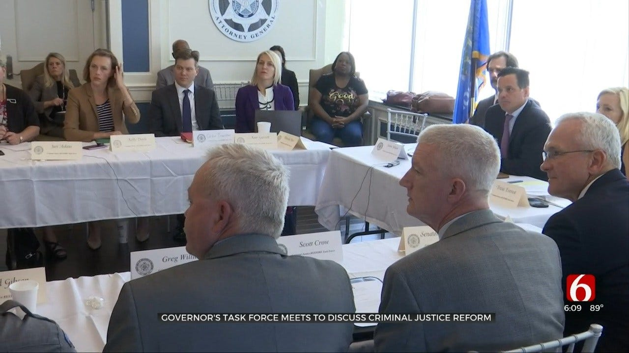 Governor Stitt's Task Force Meets To Discuss Criminal Justice Reform