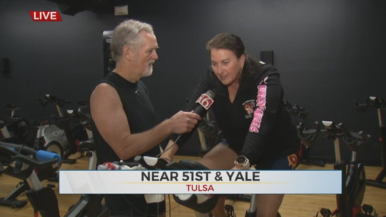 Oklahoma Couple Celebrates 20th Wedding Anniversary With Indoor Triathlon For Charity