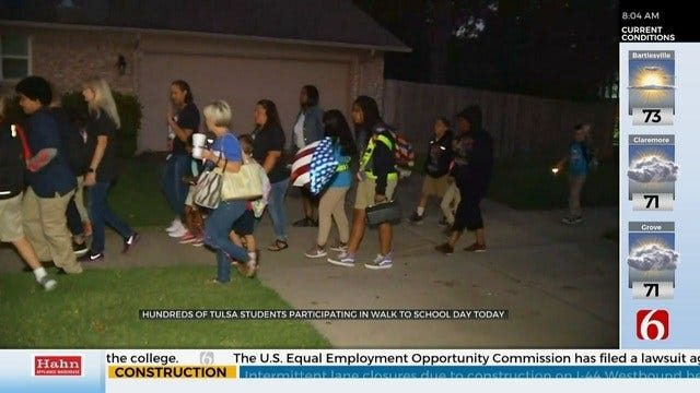 WATCH: TPS Students Take Part in International Walk To School Day