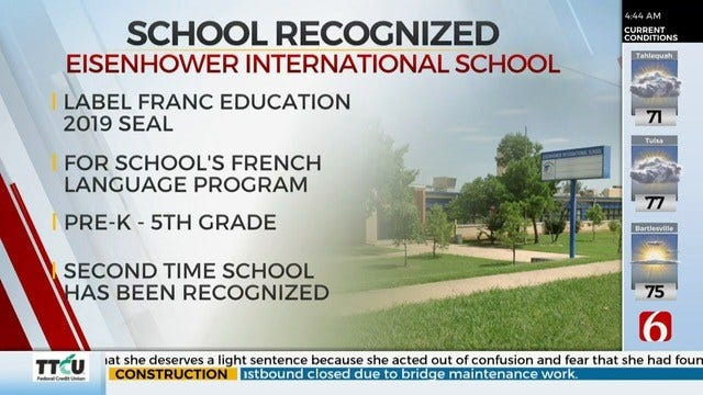 French Ministry Of Foreign Affairs Recognizes Tulsa School