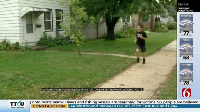 WATCH: Boy Accidentally Runs 10K Race And Wins