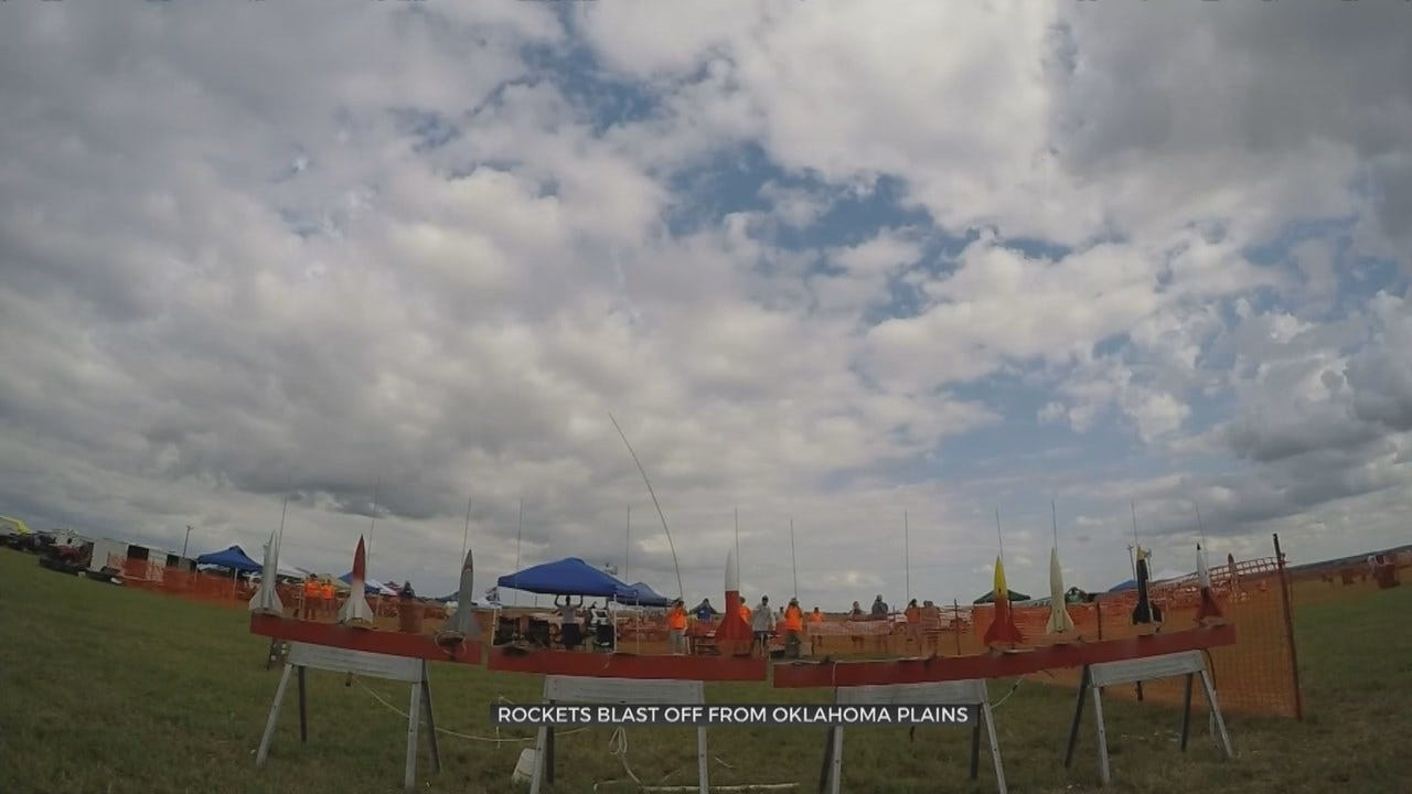 WATCH: Model Rockets Took Off At The Pawhuska Municipal Airport