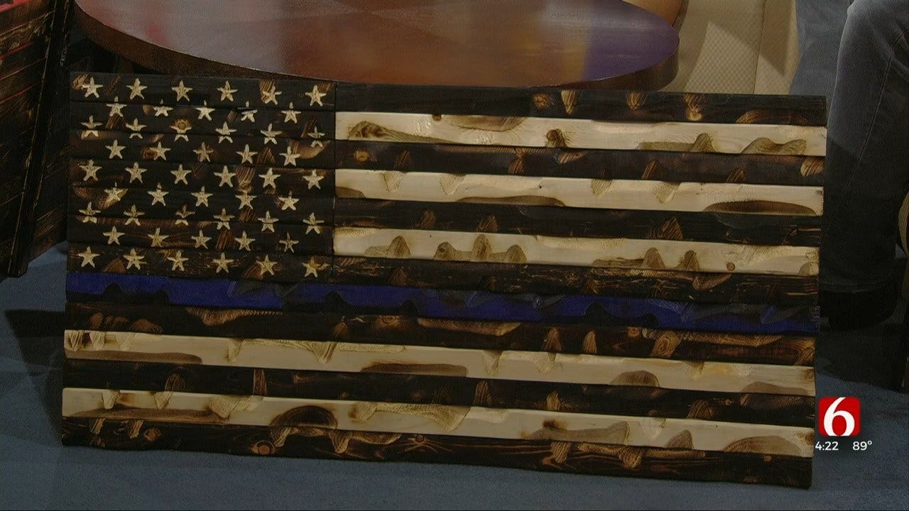 Green Country Company Makes Hand-Carved American Flags