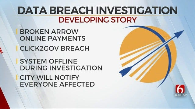Broken Arrow Suspends Online Payments Due To Possible Data Breach