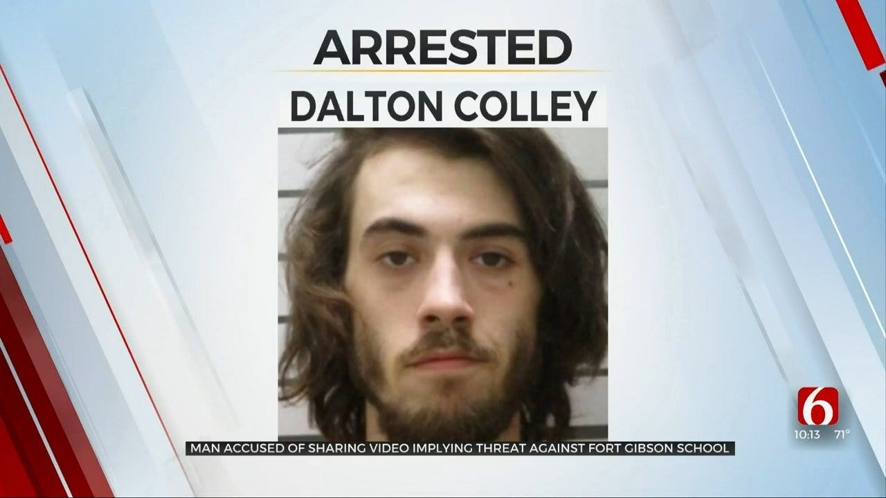 Man Accused Of Sharing Video Implying Threat Against Fort Gibson School