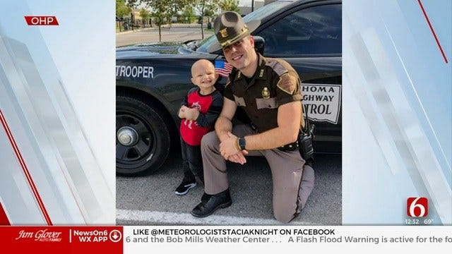 WATCH: Boy Fighting Cancer Gets Support From Trooper