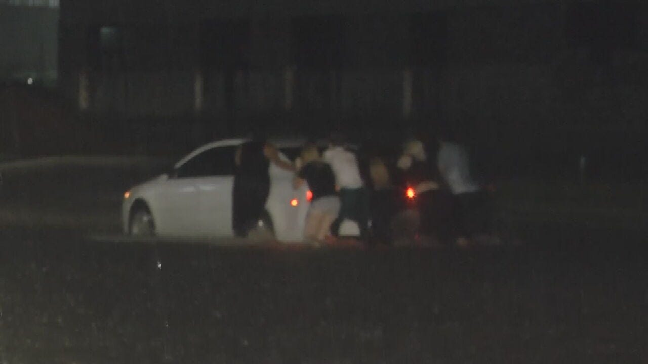 Drivers Get Stranded In High Water Near 43rd & Sheridan