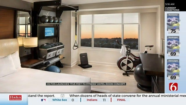 Hilton Launches '5 Feet To Fitness' Hotel Rooms
