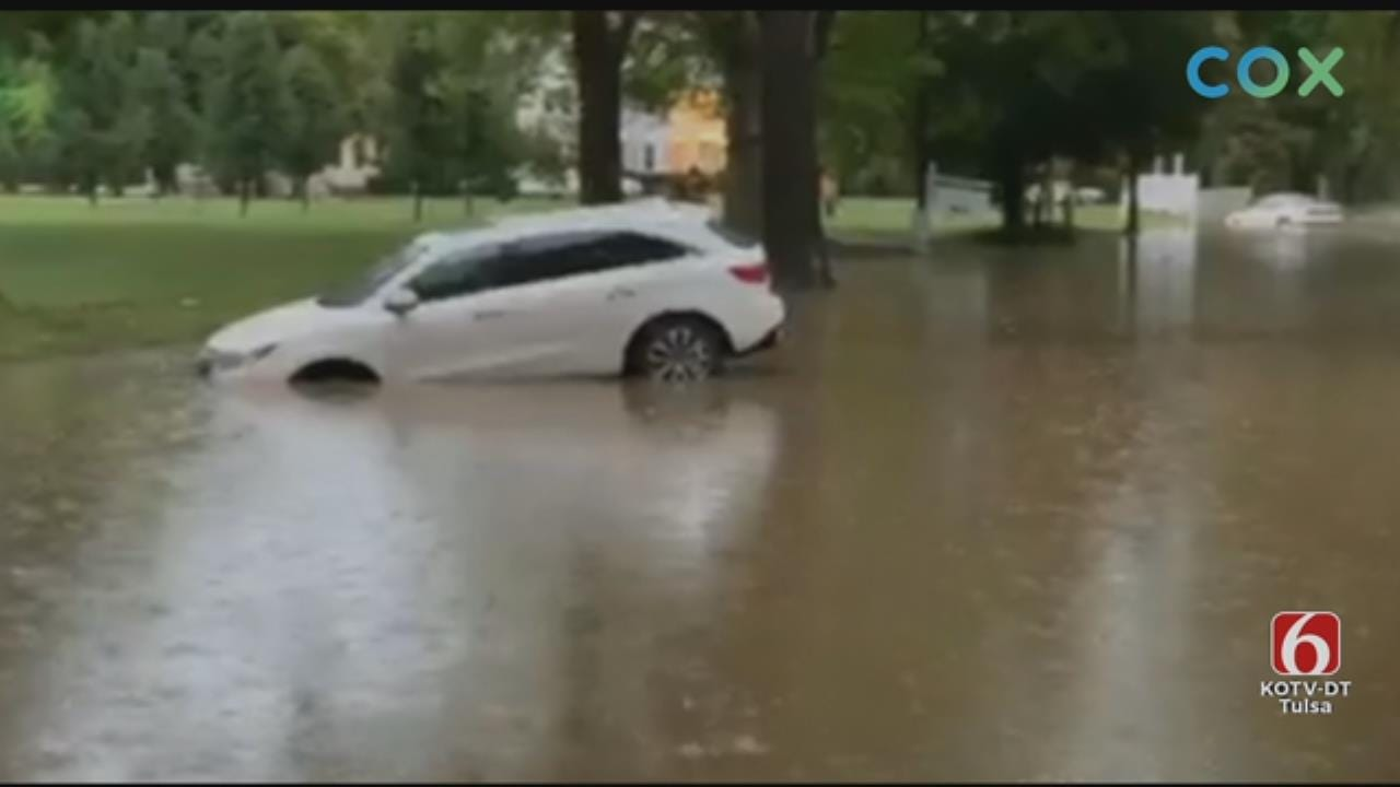 WATCH: Tulsa Fire Department Posts Video Of Cars Trapped By High Water