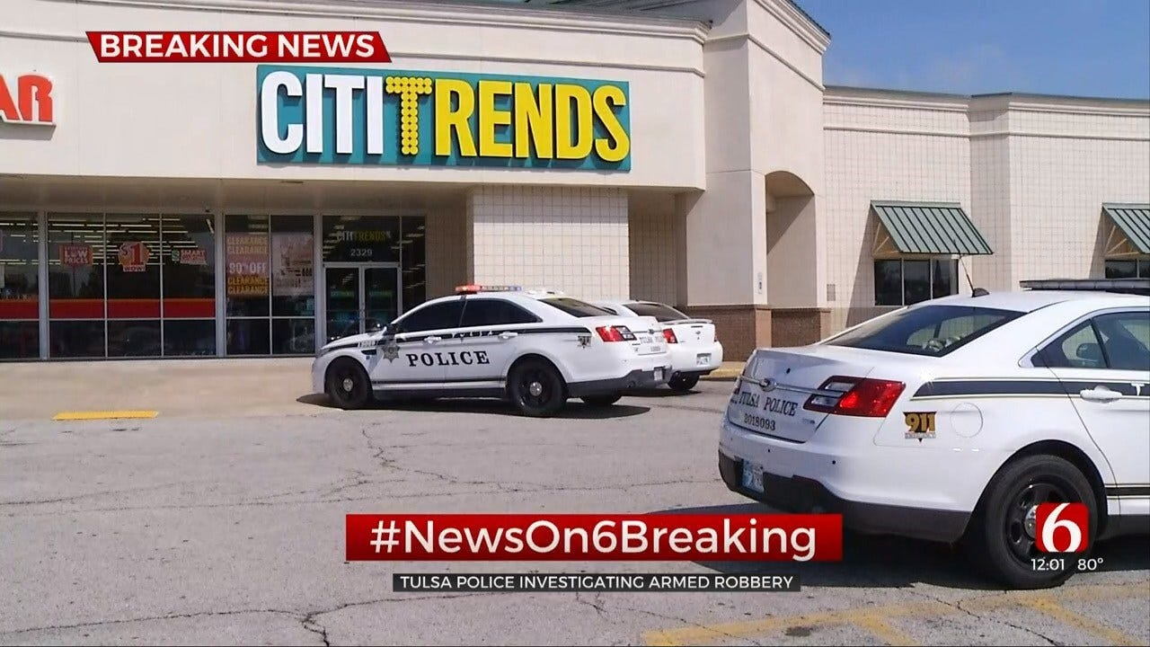 Tulsa Police Respond To Report Of Armed Robbery At Citi Trends
