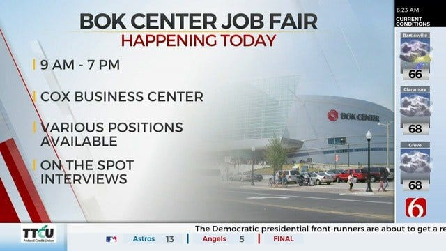 Tulsa's BOK Center Holds Job Fair