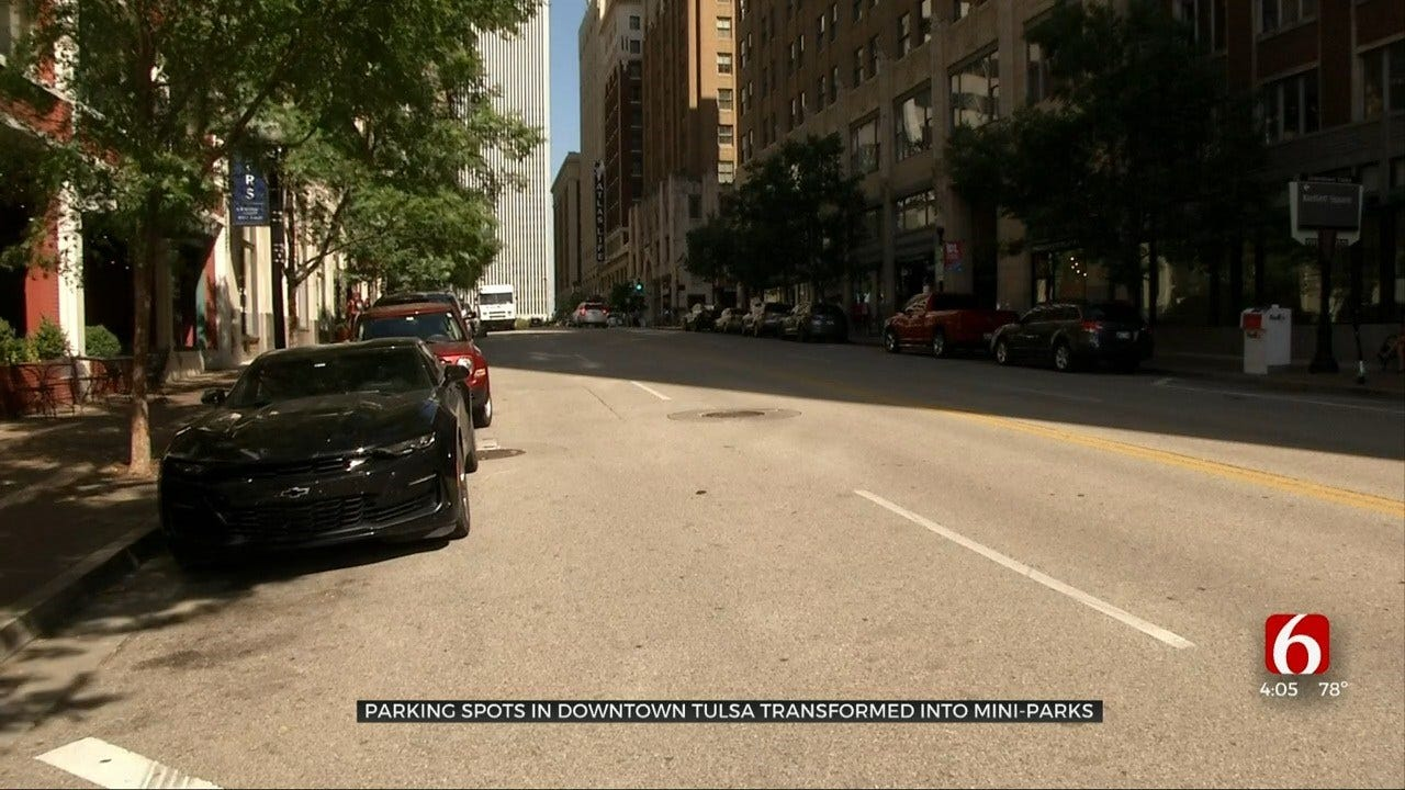 Tulsa Parking Day Turns Downtown Parking Spaces Into Miniature Parks